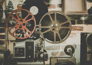 nostalgia, an old film projector